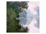 Morning on the Seine, Near Giverny, 1896 Giclée-tryk af Claude Monet