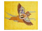 Vishnu and Lakshmi on Garuda Bundi, circa 1700 Giclée-tryk
