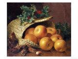 Still Life with Apples, Hazelnuts and Holly, 1898 Giclée-Druck von Eloise Harriet Stannard