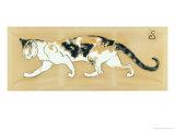 The Cat, le Chat Gicléedruk van Théophile Alexandre Steinlen