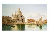 The Santa Maria Della Salute, Venice Giclee Print by William Hickling Burnett