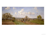 Spring, 1872 Giclee Print by Camille Pissarro
