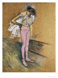 A Dancer Adjusting Her Leotard Lámina giclée por Henri de Toulouse-Lautrec