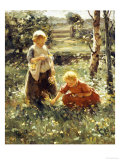 Children in a Field, 1911 Giclee Print by Evert Pieters