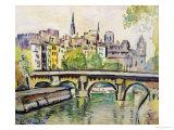 Le Pont Neuf, Paris Giclee Print by George Leslie Hunter
