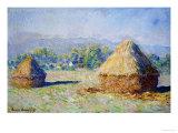 Haystacks, Morning Effect Giclée-Druck von Claude Monet