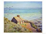 The Customs Hut, Morning, 1882 ジクレープリント : クロード・モネ
