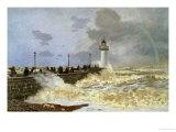 The Quay at le Havre, 1868 Giclée-Druck von Claude Monet