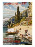 Suisse et Italie Par le St. Gothard, 1907 Giclée-Druck von  Krallt