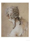 Head of a Woman Seen from Behind, circa 1740 Reproduction procédé giclée par Francois Boucher