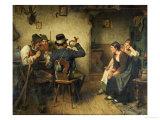 Postillion Im Wirtshaus, 1887 Giclee Print by Hugo Kauffmann