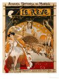 Le Reve, 1891 Giclee Print by Théophile Alexandre Steinlen