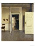 A Woman in an Interior, Strandgade 30, 1901 Giclée-tryk af Vilhelm Hammershoi