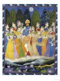 A Pichhavai of Krishna as Shrinthji, India, 19th Century Giclée-tryk