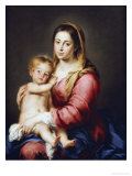 The Virgin and Child Giclée-tryk af Bartolome Esteban Murillo