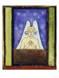 Meditation, 1895 Giclée-tryk af Hugo Simberg