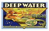 Deep Water Clams Giclée-tryk