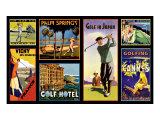 Golf Resorts Impressão giclée