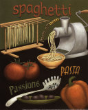 Spaghetti Poster par Daphne Brissonnet