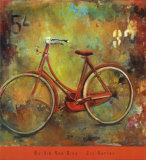 My Old Red Bike Lámina por Jill Barton