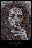 Mozaïek portret Bob Marley Affiches