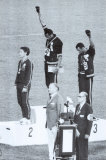 Black Power, Olympische Spelen Mexico City 1968 Foto