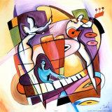 In die Tasten hauen Stroking the Keys Poster von Alfred Gockel