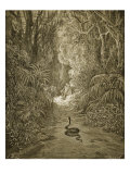 Satan As a Serpent Enters Paradise Giclee-trykk av Gustave Doré