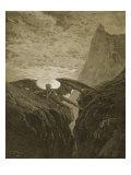 Satan Resting on the Mountain Giclee-trykk av Gustave Doré