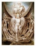 The Whirlwind: Ezekiel's Vision Reproduction procédé giclée par William Blake