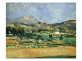 Plain of the Mount St. Victoire Reproduction procédé giclée par Paul Cézanne