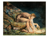 Newton Reproduction procédé giclée par William Blake