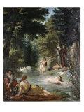 Turkish Women Bathing Reproduction procédé giclée par Eugene Delacroix