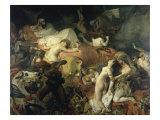 La Mort De Sardanapale Reproduction procédé giclée par Eugene Delacroix