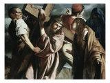 Calvary Giclée-tryk af  Caravaggio