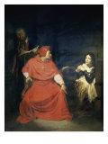 Jeanne D'Arc et le Cardinal de Winchester Reproduction procédé giclée par Paul Delaroche