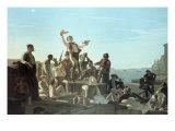 The Jolly Flatboatmen Gicléedruk van George Caleb Bingham