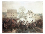 The Battle of Lexington Gicléedruk van Alonzo Chappel