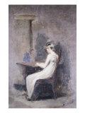 Woman Reading Giclee-trykk av Thomas Cowperthwait Eakins