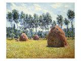 Haystacks at Giverny Giclée-Druck von Claude Monet