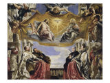 Gonzaga Family in Adoration of the Holy Trinity Giclee Print by Peter Paul Rubens