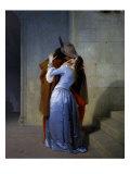 Kysset Giclée-tryk af Francesco Hayez