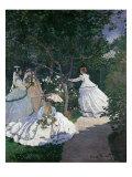 Frauen im Garten Giclée-Druck von Claude Monet