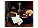 Still Life, Ease Giclée-tryk af William Michael Harnett