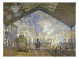 St. Lazare Station Giclee Print by Claude Monet