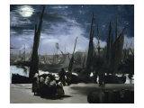 Clair de Lune Sur le Port de Boulogne Giclee Print by Edouard Manet