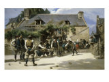 Le Jeu Des Boules Giclee Print by Charles Giraud