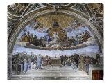 La Disputa (Disputation of the Holy Sacrament) Reproduction procédé giclée par  Raphael