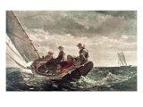 Breezing Up Giclée-tryk af Winslow Homer