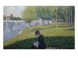 Study for Sunday on la Grande Jatte Giclee-trykk av Georges Seurat